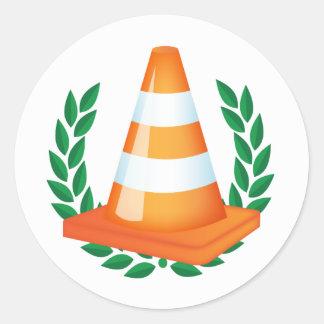 No.1 Traffic Cone Collector Stickers