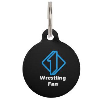 No.1 Wrestling Fan Pet ID Tag