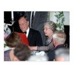 No.20 HM reina Elizabeth II, presidente George Tarjetas Postales