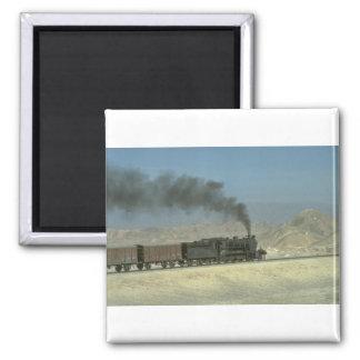 No. 2188 heads a freight through the barren Northw Fridge Magnet