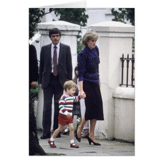 No.22 príncipe Guillermo y princesa Diana 1985 Tarjeta De Felicitación