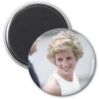 No.23 la princesa Diana visita Budapest, Hungría 1 Imán Redondo 5 Cm