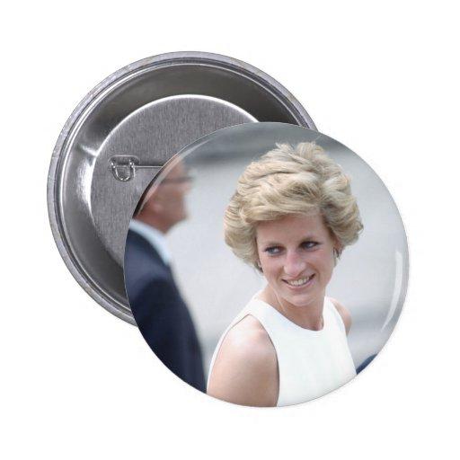 No.23 la princesa Diana visita Budapest, Hungría 1 Pin Redondo 5 Cm