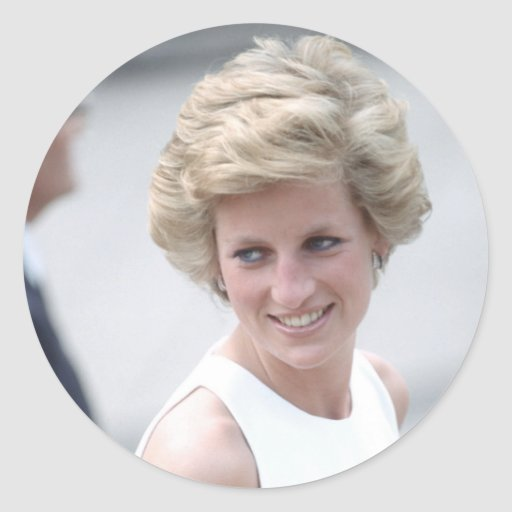 No.23 la princesa Diana visita Budapest, Hungría Pegatina Redonda