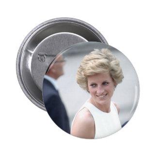 No.23 Princess Diana visits Budapest, Hungary 1990 Pinback Button