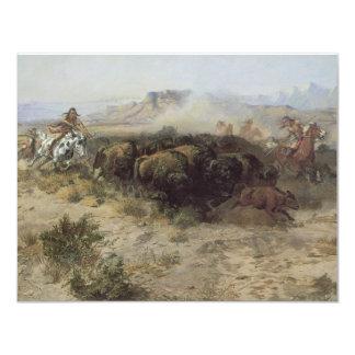 No. 26 de la caza del búfalo por cm Russell, Invitacion Personalizada