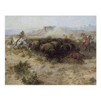 No 26 de la caza del búfalo por cm Russell Tarjeta Postal