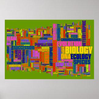 No. 2 de Wordle de la biología Póster