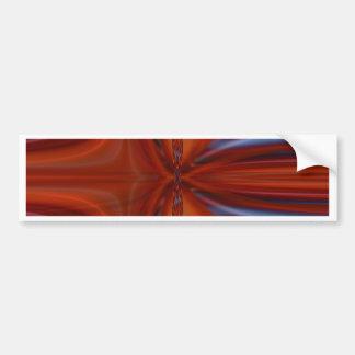 No. 2 del naranja de Abstrakt diseñado por Tutti Pegatina Para Auto