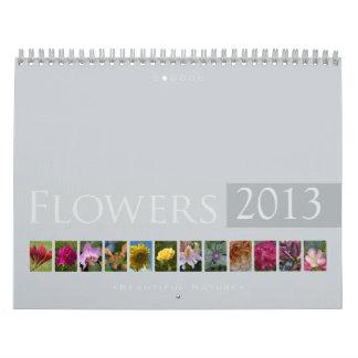 (no 2) flores 2013: Naturaleza hermosa - calendari Calendarios De Pared