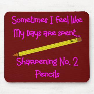 No 2 Pencil Gifts for Teachers, secretaries etc Mouse Mat