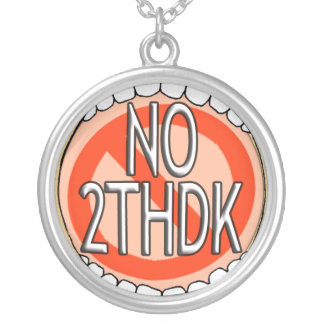 NO 2thDK - NECKLACE - NO TOOTH DECAY  FUNNY DENTAL