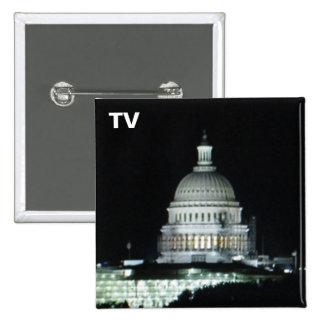 No. 30 del botón de la TV Pin Cuadrado