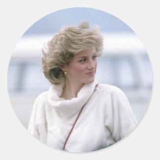 No.31 la princesa Diana llega el aeropuerto de Pegatinas Redondas