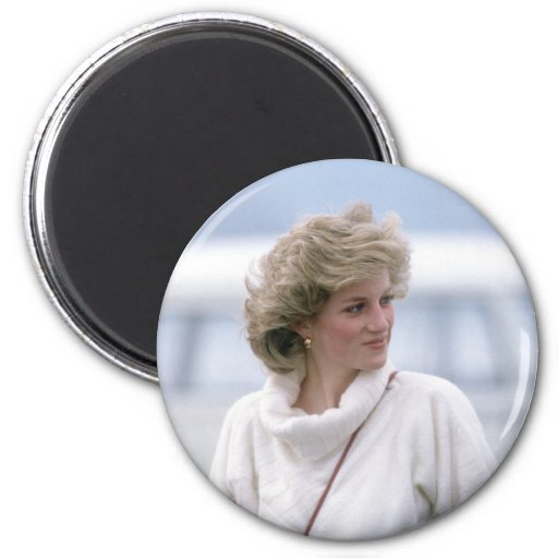 No.31 la princesa Diana llega el aeropuerto de Zur Imanes Para Frigoríficos