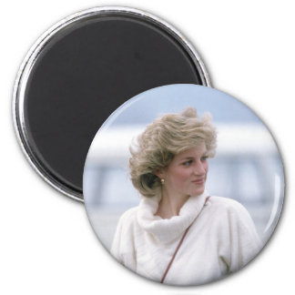 No.31 Princess Diana arrives at Zurich Airport in 2 Inch Round Magnet