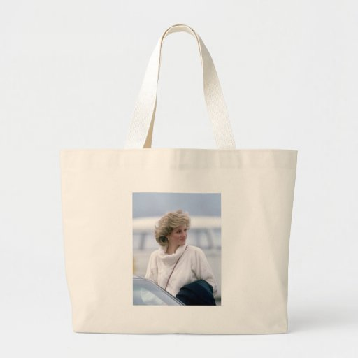 No.31 Princess Diana arrives at Zurich Airport in Canvas Bags