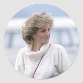 No.31 Princess Diana arrives at Zurich Airport in Classic Round Sticker