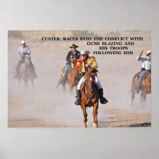 No 32 - DSC -0 195 Custer Guns Blazing Poster