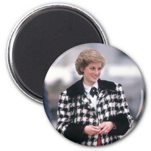 No.32 la princesa Diana llega por un día de fiesta Imanes De Nevera