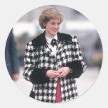 No.32 la princesa Diana llega por un día de fiesta Pegatinas Redondas