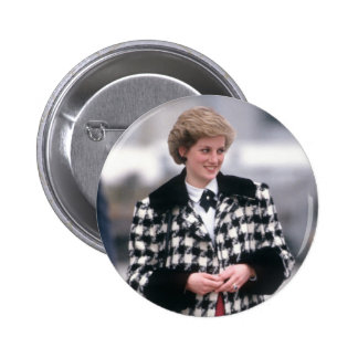 No.32 Princess Diana arrives for a skiing holiday Button
