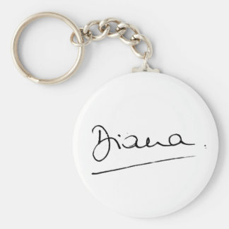 No.34 la firma de princesa Diana Llavero Redondo Tipo Pin