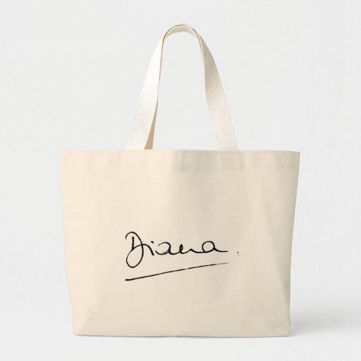 No.34 The signature of Princess Diana. Bag