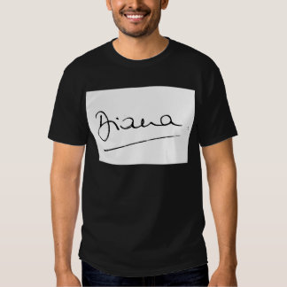 No.34 The signature of Princess Diana. Shirt