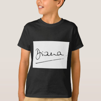 No.34 The signature of Princess Diana. T-Shirt
