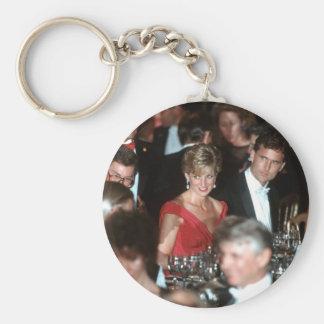 No.35 Washington DC 1990 de la princesa Diana Llavero Redondo Tipo Pin