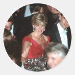No.35 Washington DC 1990 de la princesa Diana Pegatina Redonda