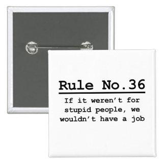 No. 36 de la regla pin cuadrado