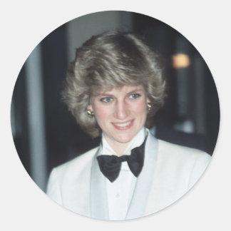 No.36 princesa Diana, Birmingham 1984 Etiquetas Redondas