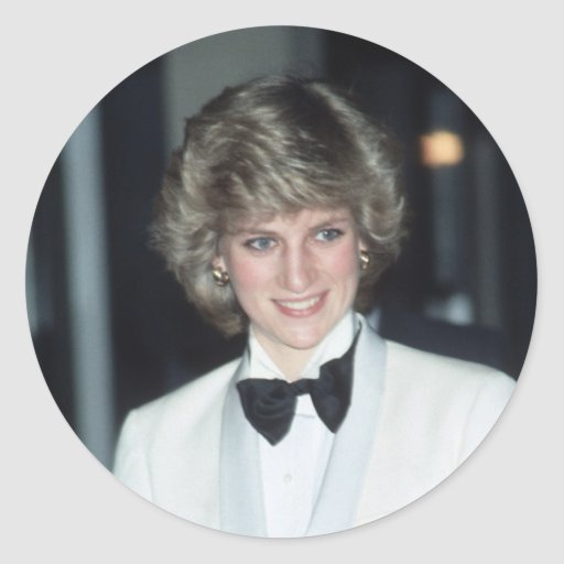 No.36 Princess Diana, Birmingham 1984 Round Stickers
