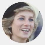 No.37 princesa Diana Southampton 1984 Pegatina Redonda
