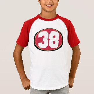 No.38 Kids Kids' Retro Striped Sleeve V-Neck T-Shirt