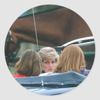 No.38 Princess Diana polo 1986 Classic Round Sticker