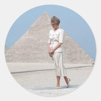 No.39 princesa Diana Egipto Pegatina Redonda