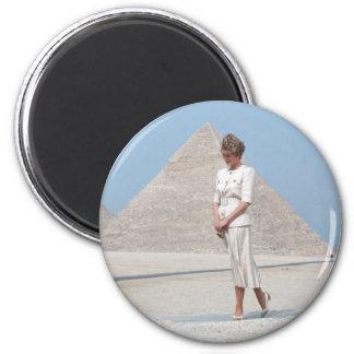 No.39 Princess Diana Egypt 2 Inch Round Magnet