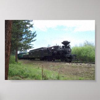 No. 3 de Heisler con el tren de pasajeros Póster