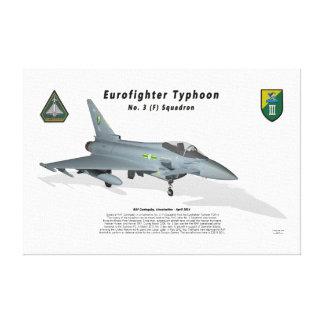 No. 3 Sqn del tifón de Eurofighter con la sombra Impresión De Lienzo