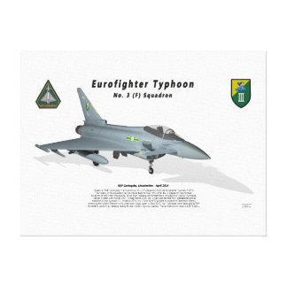 No. 3 Sqn del tifón de Eurofighter con la sombra Impresiones En Lona Estiradas