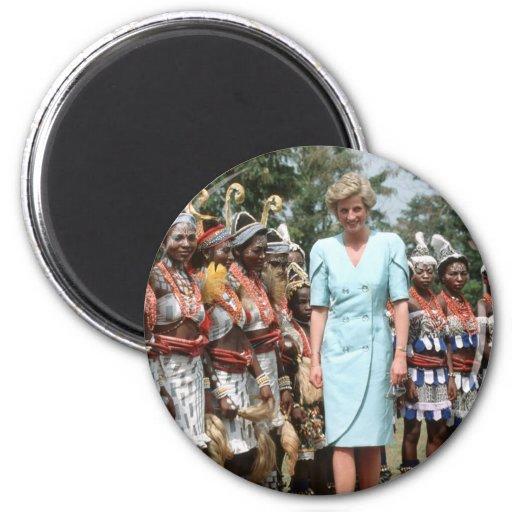 No.41 princesa Diana el Camerún 1990 Imán De Frigorifico
