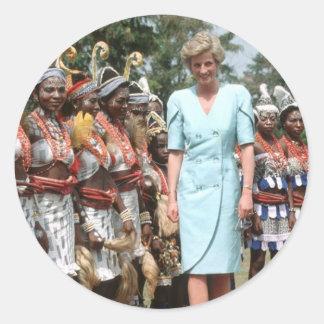 No.41 princesa Diana el Camerún 1990 Etiquetas Redondas