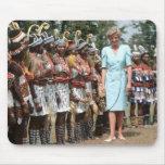 No.41 princesa Diana el Camerún 1990 Alfombrillas De Ratones