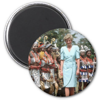 No.41 Princess Diana Cameroon 1990 2 Inch Round Magnet