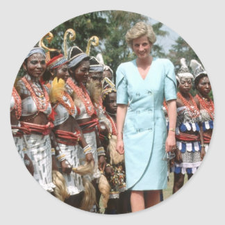 No.41 Princess Diana Cameroon 1990 Classic Round Sticker
