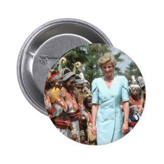 No.41 Princess Diana Cameroon 1990 Pinback Button