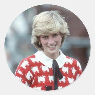 No.42 polo 1983 de la princesa Diana Pegatina Redonda